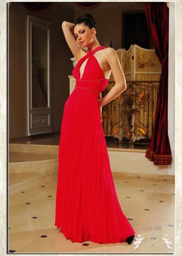 """Лучшие вечерние платья.  Красное платье.   """"Модель (A)S 889."""