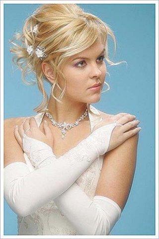 видео прически на волосы средней длины на свадьбу.
